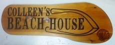 Flip Flop shaped wooden sign for a beach house