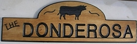 Classic styled wooden sign for a farm