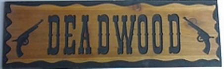 Country style routed wooden signs