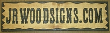 Country styled wooden sign for advertising  a business