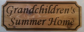 Chipped Style Carved Cedar Wooden Sign