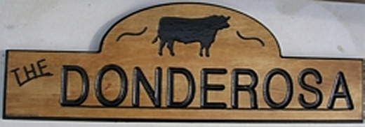 Classic style wooden sign made from Western Cedar