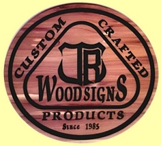 Logo for JRWOODSIGNS custom wooden signs