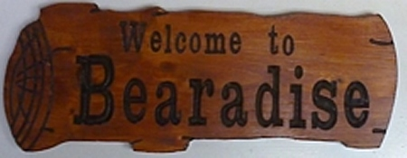 wooden saloon sign