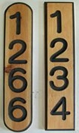 Various address number plaques for mailbox post mounting