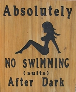 custom-wood-pool-sign-no-suits-girl
