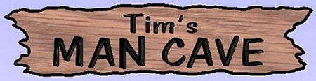 Personalized wooden man cave sign
