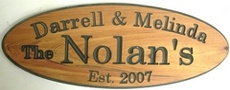 Finished Western red Cedar Wooden Sign