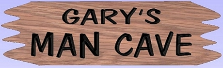 Wooden mancave sign