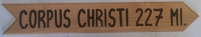 Elliptical custom Routed Cedar Wooden Sign with V-Carved text