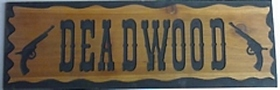 Country style bordered wooden sign